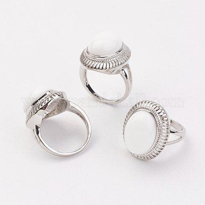 Los anillos de dedo de la porcelanaRJEW-P122-22-1