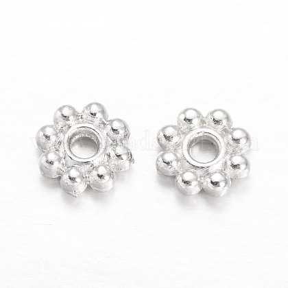 Flower Alloy Spacer Beads PALLOY-L166-31S-1