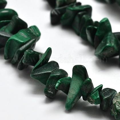 Chips de malaquita naturales hebras de abaloriosX-G-N0134-27-1