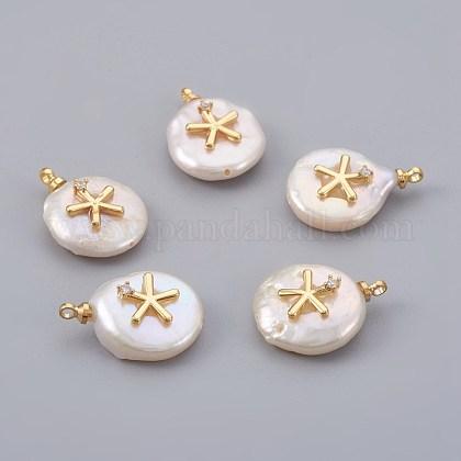 Colgantes naturales de perlas cultivadas de agua dulcePEAR-F008-07G-1