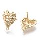 Brass Stud Earring FindingsKK-N230-02-NF-2