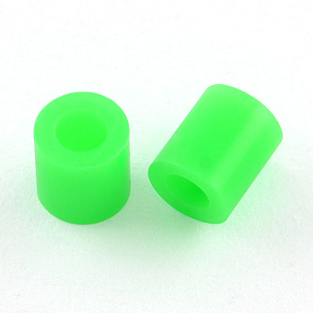 PE DIY Melty Beads Fuse Beads Refills, Tube, Lime, 3~3.3x2.5~2.6mm