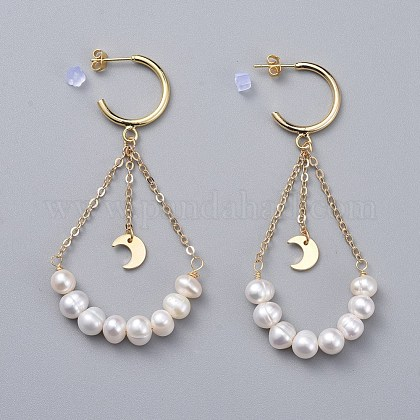 Pendientes de perlas naturalesEJEW-JE03828-02-1