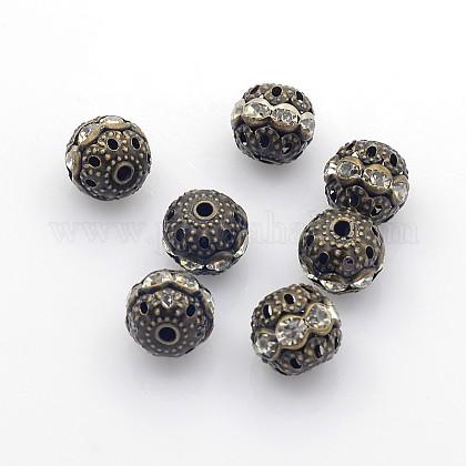 Abalorios de Diamante de imitación de latónRB-A011-10mm-01AB-NF-1