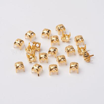 Square Brass Rhinestone Claw SettingsX-KK-O084-05G-6x6mm-1