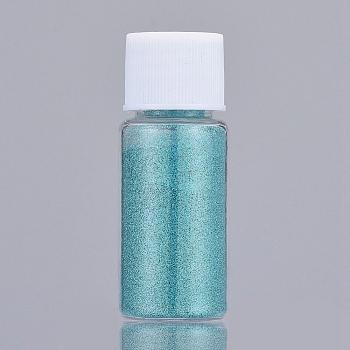 光沢のあるレーザーグリッターダストパウダー  UVレジン用  エポキシ樹脂デコレーション&ネイルアートクラフトジュエリー作り  ライトシーグリーン  ボトル:22x57ミリメートル  5 G /ボトル