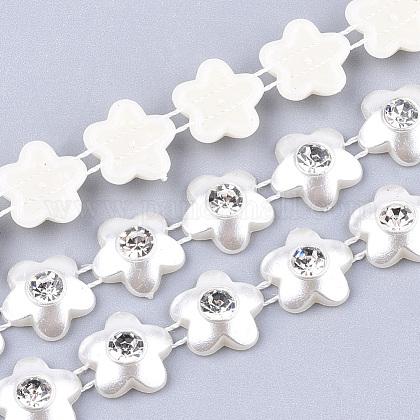 ABS Plastic Imitation Pearl Beaded Trim Garland StrandAJEW-S073-08-1