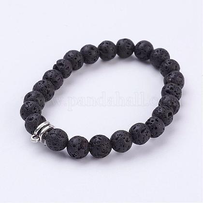Lava Stretch BraceletBJEW-JB03139-1