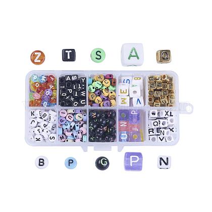 Acrylic Alphabet BeadsSACR-JP0004-08-1