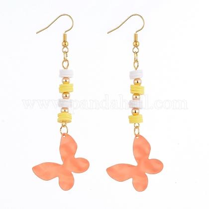 Butterfly Dangle EarringsEJEW-JE04085-03-1