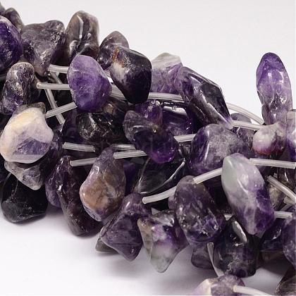 Natural Amethyst Beads StrandsG-UK0011-06-1