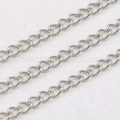 304 Stainless Steel Twist ChainsCHS-K001-24-3mm-1