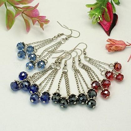 Stylish Tibetan Style Chandelier EarringsEJEW-JE00511-1