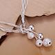 Brass Ball Charm Bracelets For WomenBJEW-BB12609-4