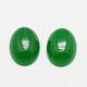 Óvalo cabuchones de jade natural de malasiaG-K020-25x18mm-11-1