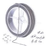 BENECREAT 49 Feet/15M 3mm Stainless Steel Curb Chain Link Cable Chain with 60PCS Jump Rings and 20PCS Lobster Clasps for DIY Jewelry Making