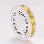 Медная проволока, золотые, 0.3 мм; 26 м / рулон