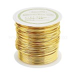 Copper Wire Copper Beading Wire, Long-Lasting Plated, Gold, 20 Gauge, 0.8mm; 8m/roll