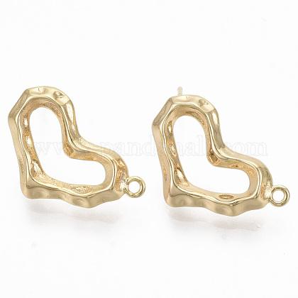 Brass Stud Earring FindingsKK-R130-039B-NF-1