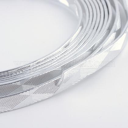 テクスチャード加工されたアルミニウムワイヤーAW-R008-10m-01-1