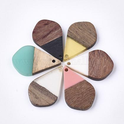 Colgantes de resina y madera de nogalRESI-S358-23-1