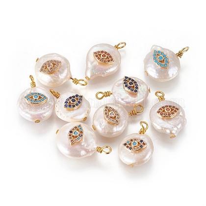 Colgantes naturales de perlas cultivadas de agua dulcePEAR-I005-03-1