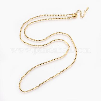 Brass Ball Chain Necklace MakingsX-KK-F763-06G-1