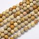 Cuentas de piedra de crisantemo natural hebrasG-G697-F01-4mm-1