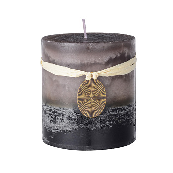 Paraffin Candles, Round Shaped Smokeless Candles, Decorations for Wedding, Party, Votives, Oil Burners and Christmas, Gray, 77x69.5mm