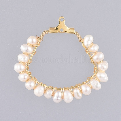 Colgantes naturales de perlas cultivadas de agua dulcePALLOY-JF00414-02-1