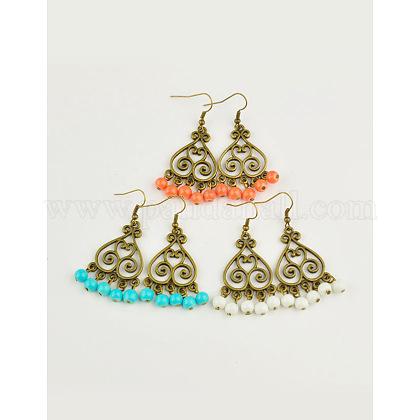 Tibetan Style Chandelier EarringsEJEW-JE00342-1