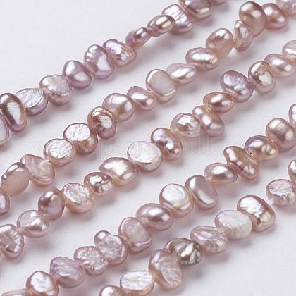 Hebras de perlas de agua dulce cultivadas naturalesPEAR-P002-53C-1