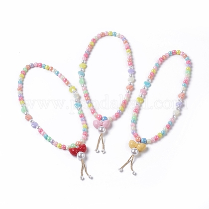 Collares pendientes de acrílico para niñosNJEW-JN02615-M-1