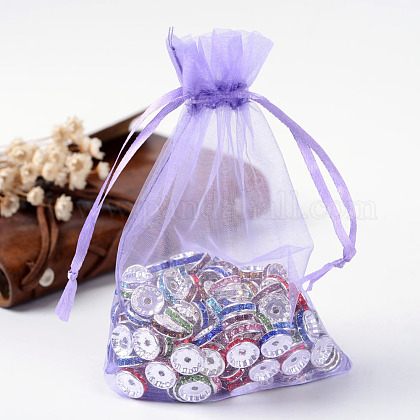 Organza Gift Bags with Drawstring OP-R016-10x15cm-06-1