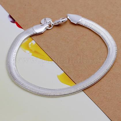 Unisex Brass Snake Chain BraceletsBJEW-BB12533-1