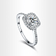 Real Platinum Plated Environmental Brass AAA Square Cubic Zirconia Engagement Ring RJEW-AA00201-6#-P-1