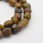 Natural Petrified Wood Bead Strands, 5~7X5~7mm, Hole: 1mm; about 15.7inches