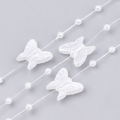 ABS Plastic Imitation Pearl Beaded Trim Garland Strand AJEW-S071-03-1