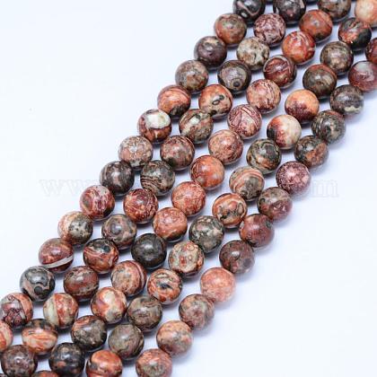 Natural Leopard Skin Jasper Beads StrandsG-J358-05-6mm-1