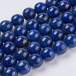 天然石ラピスラズリビーズ連売り, グレードA, ラウンド, 10mm, 穴:1ミリメートル;約38個/連15.5