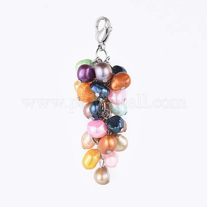 Colgantes naturales de perlas cultivadas de agua dulceHJEW-JM00365-1