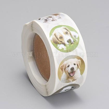 Etiquetas autoadhesivas de etiquetas de regalo de papel kraftDIY-G013-A05-1
