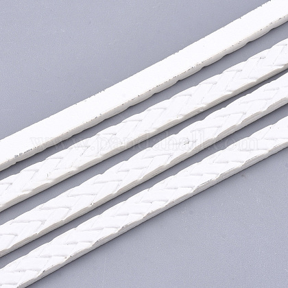 Cordones de piel sintética trenzados de una cara.LC-T003-01J-1