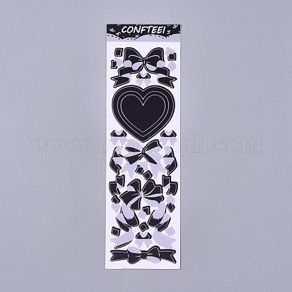Bowknot cinta patrón etiquetas decorativas pegatinasDIY-L037-B01-1