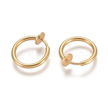 304 Stainless Steel Clip-on Earring Findings X-STAS-E482-17G-1