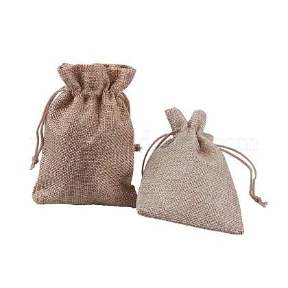 黄麻布製梱包袋ポーチABAG-X0001-10x14-03-1