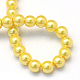 Baking Painted Pearlized Glass Pearl Round Bead StrandsHY-Q003-14mm-67-4