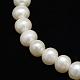 Hebras de perlas de agua dulce cultivadas naturales de grado aaaPEAR-L001-C-13-2