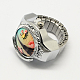 Platinum Tone Iron Stretch Ring Quartz WatchesRJEW-R119-08N-1