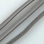 Imitation Leather Cord, PU Leather, SlateGray, 4mm; 100yard/bundle(300 feet/bundle)